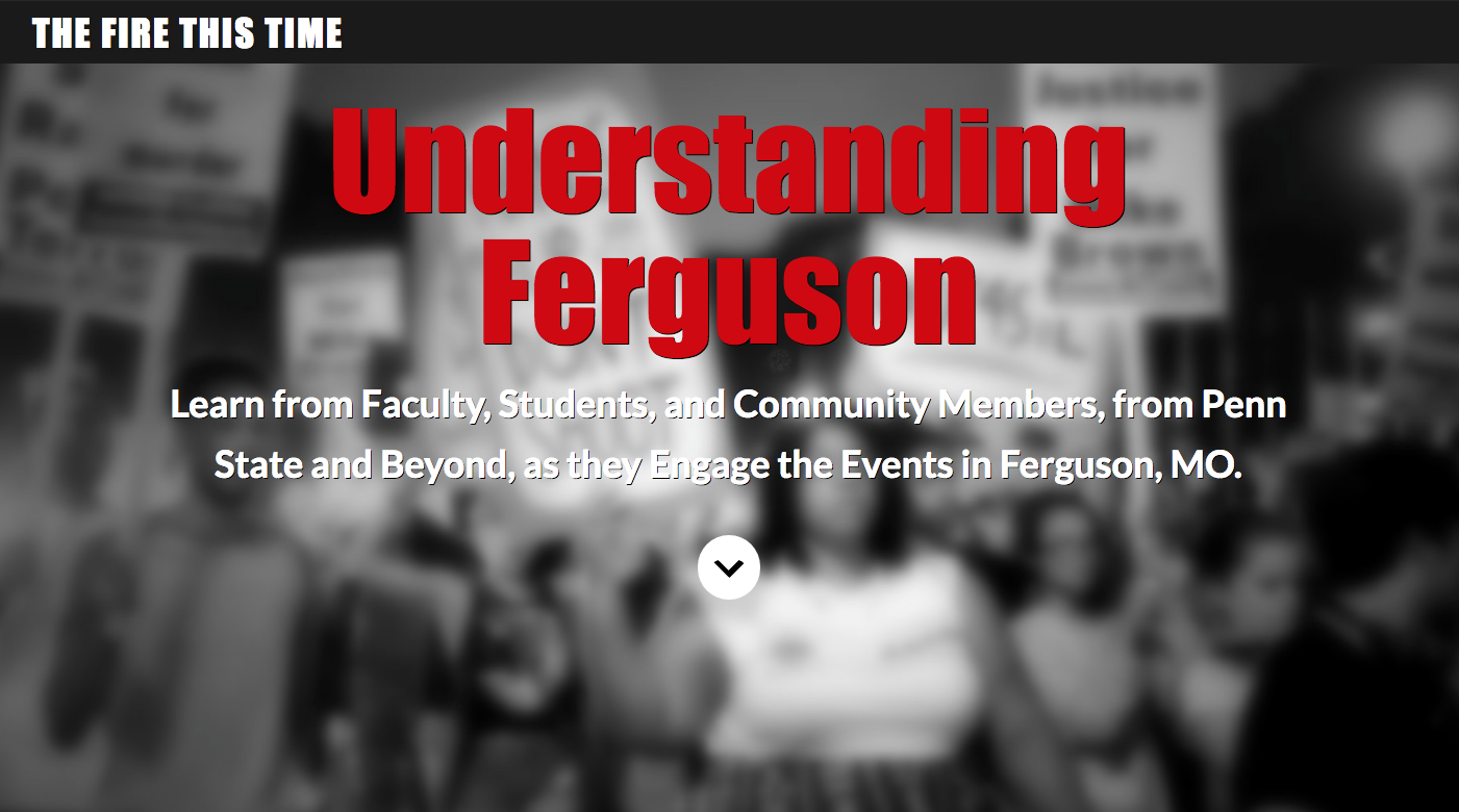 screenshot of website for understanding ferguson course
